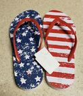 NWT Abound Women's Flip Flop Sandals Patriotic Red White and Blue