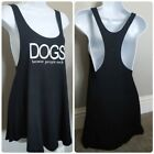 Womens Black Wide Arm Workout Muscle Flowy Loose Lounge Stretchy Solid Tank Top