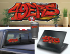 Внешний вид - San Francisco 49ers Graffiti Vinyl Vehicle Car Laptop Sticker Decal