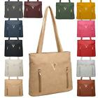 New Synthetic Leather Metallic Detail Ladies Shopper Shoulder Tote Bag