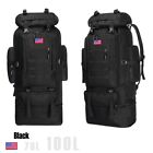 100L Outdoor large Backpack Hiking Camping Travel Bags Trekking Rucksack