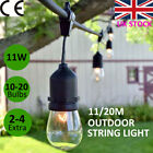 11/20M Plug In S14 Party Bulbs Festoon String Lights | Outdoor Garden Decoration