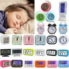 Digital Smart Alarm Clock Mini Quartz Night Analog Bedside Calendar Snooze Gift