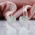 Gorgeous 925 Silver Drop Earrings for Women White Sapphire Jewelry A Pair/set image