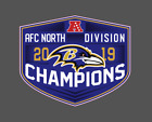 Baltimore Ravens 2019 AFC North Division Champions Vinyl Decal $6.0 USD on eBay