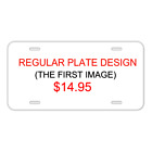Custom Personalized License Plate With Add Names To Cheetah Silhouette Animal