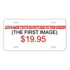 Custom Personalized License Plate With Add Names To Golf Cart Golf Buggy