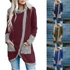 Womens Long Sleeve Tunic Tops Casual Turtleneck Dress Slit Loose T Shirt Blouse