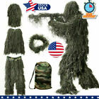 Unisex 3D 5 in 1 Camouflage Woodland Jungle Forest Hunting Camou Ghillie Suit US