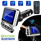 Bluetooth In-Car Wireless FM Transmitter MP3 Radio Adapter USB Charger w/Remote