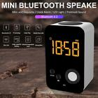 Wireless Bluetooth Speaker LED Light Alarm Clock Smart MP3 Player Mini Speaker