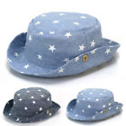 Toddler Baby Boy Girl Star Breathable Soft Denim Bucket Hat Outdoor Summer Beach