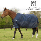 *New Style* Mark Todd LIGHTWEIGHT  PLAID TURNOUT RUG 0g 600d Navy 5'6'' - 7'0''