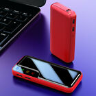 Portable 900000mAh Power Bank 2USB LED Polymer Battery Charger for Cell Phone US