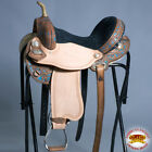 "C-Q-14 14"" Hilason Western Flex-Tree Barrel Racing Trail Pleasure Horse Saddle"