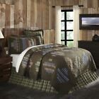 Rustic Patchwork Cotton Quilt Luxury King Queen Twin Bedspread Coverlet Brown image