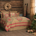Queen King Twin Cotton Quilt Bedspread Tan Rustic Holiday Lodge Cabin Home Decor image