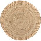 VHC Farmhouse Rug Harlow Flooring Tan Jute Solid Color Round