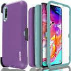 For Samsung Galaxy A70 Armor Holster Case Belt Clip Cover COVRWARE Tri