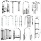 Garden Arch Gate Metal Traditional Decorative Pergola Rose Archway Plant Support