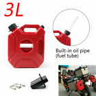 3L Motorcycle Jerry Cans Gas Diesel Fuel Tank For Car w/Lock+Mounting US FA