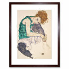 Egon Schiele Seated Woman Legs Drawn Up Adele Herm Framed Wall Art Print