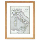 Map Antique 1845 Chambers Ancient Italy Rome Framed Art Print 12x16 Inch