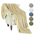 Plush Fuzzy Fleece Throw Blanket Soft Warm Faux Fur for Sofa Couch Bed Bedspread image