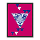 Triangular+Tiger+Abstract+Framed+Wall+Art+Print+18X24+In