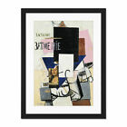 Malevich+Composition+Mona+Lisa+Framed+Wall+Art+Print+18X24+In