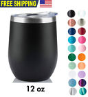 12 OZ Wine Stainless Steel Tumbler Vacuum Double Wall Insulation Travel Mug/Cup