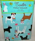 EASTER Vinyl Tablecloth Assortment EASTER DOGS [Your Choice] BLUE