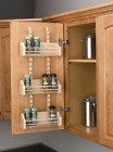 """Adjustable Door Mount Spice Rack with 3 Shelves for 15"""" Wall Cabinet"""