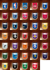 Pennants National Basketball Association logo Team NBA on eBay