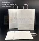 Stronghold Twist Handle Paper Party and Gift Carrier Bag Medium WHITE