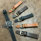Size 18/20/22mm Vintage Look Quick Release Cow Leather Watch Strap/Band #154 image