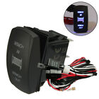 12V24V 5 Pin ONOFF LED Rocker Switch & Relay Fuse Wiring Harness Loom Kit