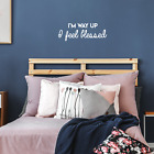 Vinyl Wall Art Decal - I'm Way Up I Feel Blessed - 11* x 30* - Modern Positive S