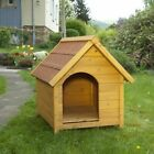 Wooden Dog Kennel Weatherproof Treated Pine Pitched Roof Easy to Assemble