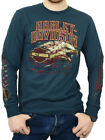 Harley-Davidson Mens Weathered Eagle Patriotic Blue Long Sleeve Biker T-Shirt $19.99 USD on eBay
