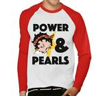 Betty Boop Power Pearls Men's Baseball T-Shirt £19.95 GBP on eBay