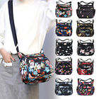 Nylon Floral Crossbody Bag for Women Casual Messenger Shoulder Purse Waterproof