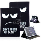 """US For 7.0 7"""" 10.1"""" inch Tablets Universal PU Leather Case Eye Pattern Cover"""