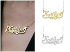 Kyпить Personalized 925 Sterling SilverGold Script NAME Plate Necklace Diamond Cut 2020 на еВаy.соm