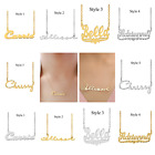 Personalized Sterling Silver Any Name Plate Script Chain Necklace 10 Styles 2020