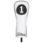 Titleist White & Black Leather Headcover Head Cover New 2020