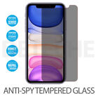 Anti Spy Privacy Tempered Glass Screen Protector iPhone 11 PRO MAX 8 7 XR XS X $3.79 USD on eBay