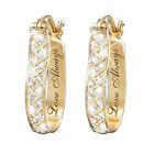 Fashion 18k Yellow Gold Plated Hoop Earrings Women Wedding Jewelry A Pair/set image