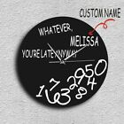 Custom Wall Clock Your Design Your Logo Your Personal Personalized Vinyl Watch