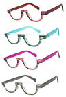 1 or 2 Pair Half Moon Small Colorful Frame Full Lens Reading Glasses Readers